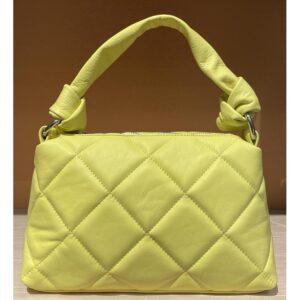 matelassé bag in lilac leather