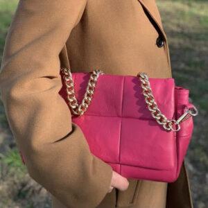 matelassé leather bag