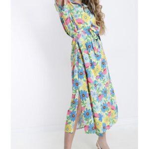 Vestito con fiori primavera estate 2021