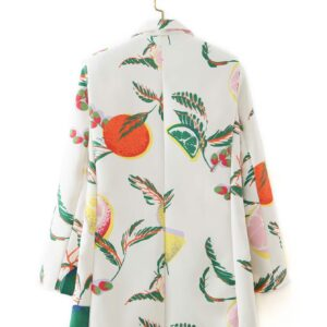 Lemon patterned blazer