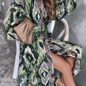 Long ethnic kimono