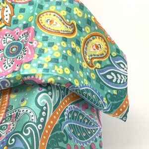 Colored paisley scarf