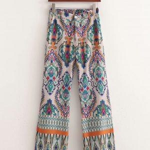Pantalone wide leg colorato