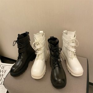 Autumn winter boots with buckles 2021