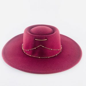 Cappello tesa larga velluto colorato